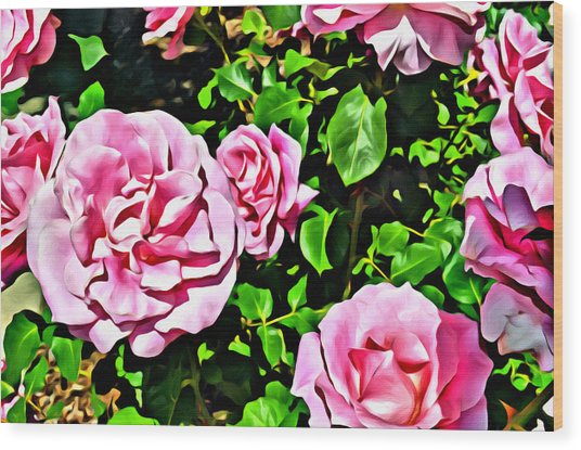 Nana's Roses Wood Print