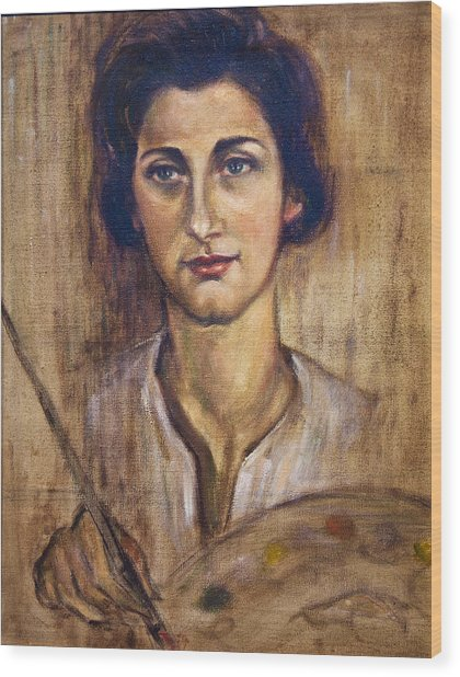 Nancy Kominsky - A Self-portrait Wood Print by    Michaelalonzo   Kominsky
