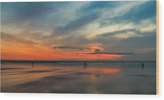 Nantasket Beach Sunrise Wood Print