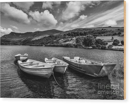Nantlle Uchaf Boats Wood Print