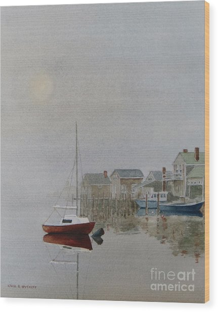 Nantucket Fog Wood Print