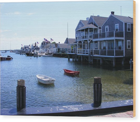 Nantucket Harbors Wood Print