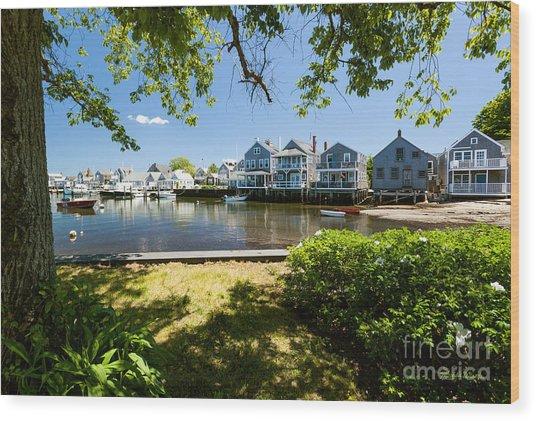 Nantucket Homes By The Sea Wood Print