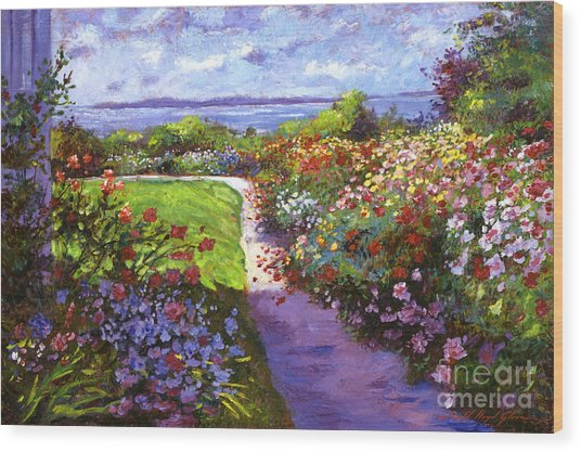 Nantucket Island Garden Wood Print
