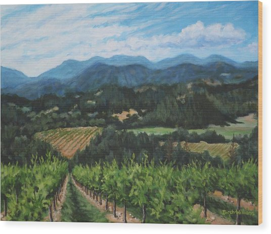 Napa Valley Vineyard Wood Print