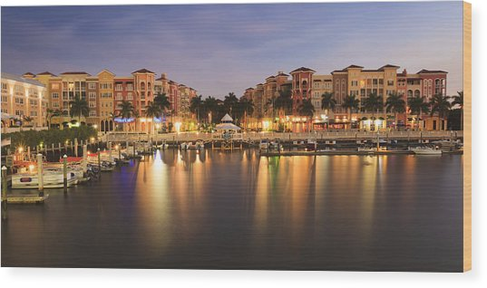 Naples Bay Wood Print