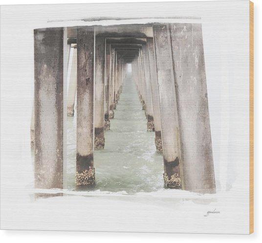 Naples Fl Pier Wood Print