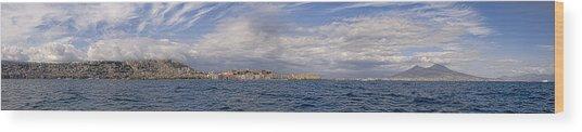 Naples Panorama Wood Print by Chris Cameron