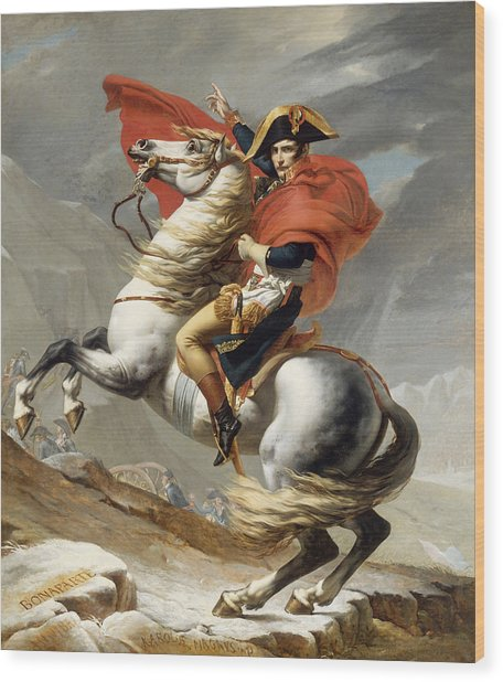Napoleon Bonaparte On Horseback Wood Print