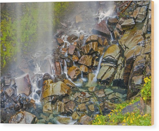 Narada Falls Mount Rainier National Park Wood Print