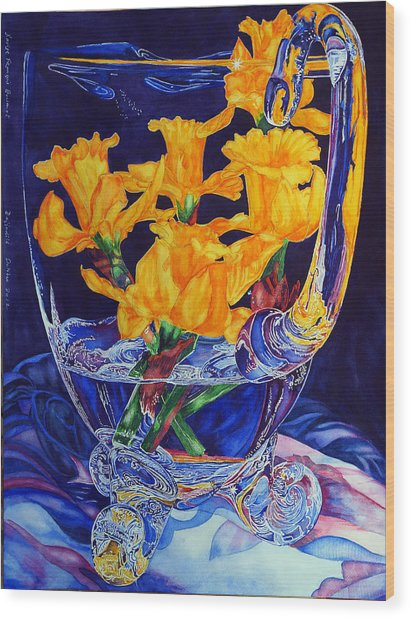 Narcisses Dans Un Vase From Master Class Wood Print