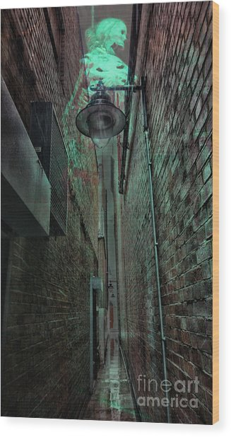 Narrow Street Wood Print