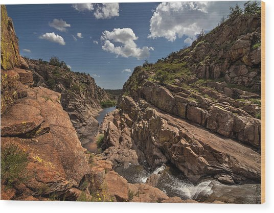 Narrows Canyon In The Wichita Mountains Wood Print