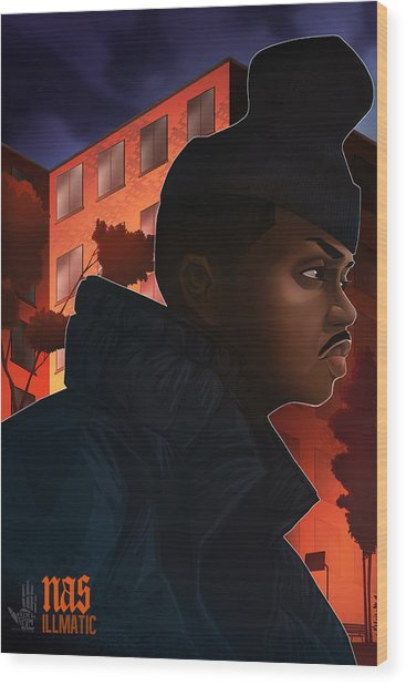 Nas Illmatic Wood Print