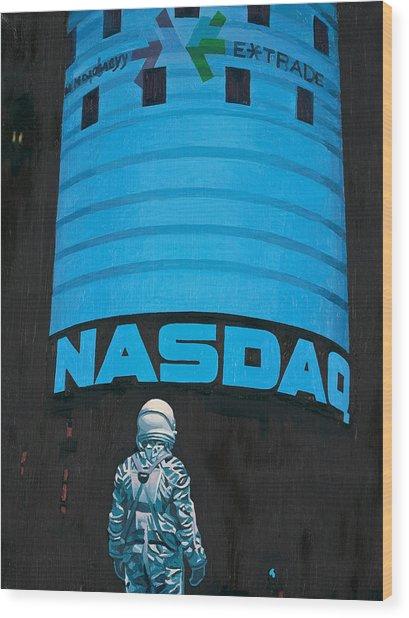 Nasdaq Wood Print