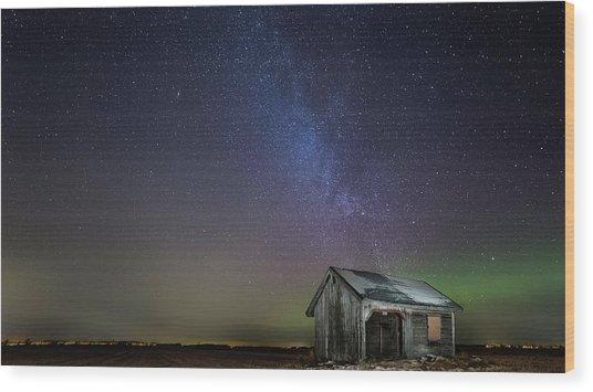 Nasty Light Pollution Wood Print