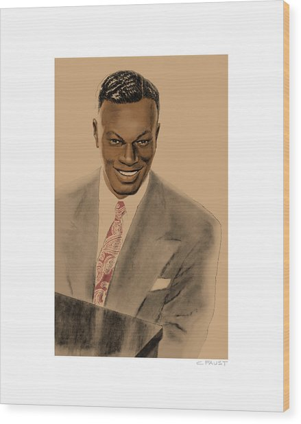 Nat King Cole Wood Print