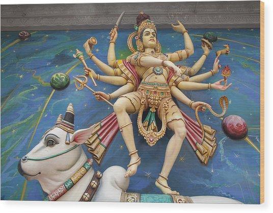 Nataraj Dancing Shiva Statue Wood Print