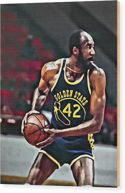 Nate Thurmond Wood Print