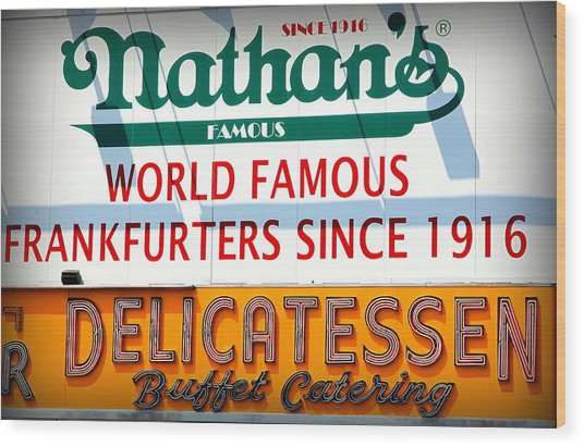 Nathan's Sign Wood Print