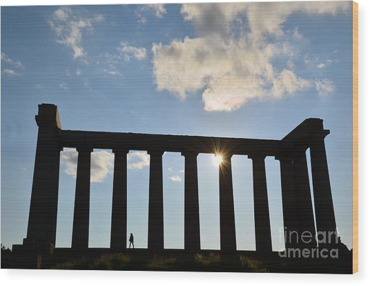 National Monument Of Scotland In Edinburgh Wood Print