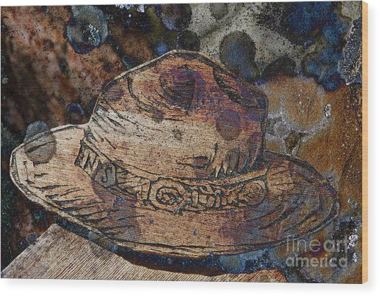 National Park Service Ranger Hat Wood Print