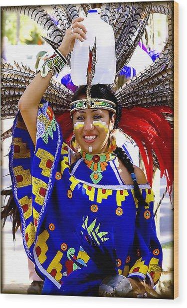 Native American Beauty Wood Print