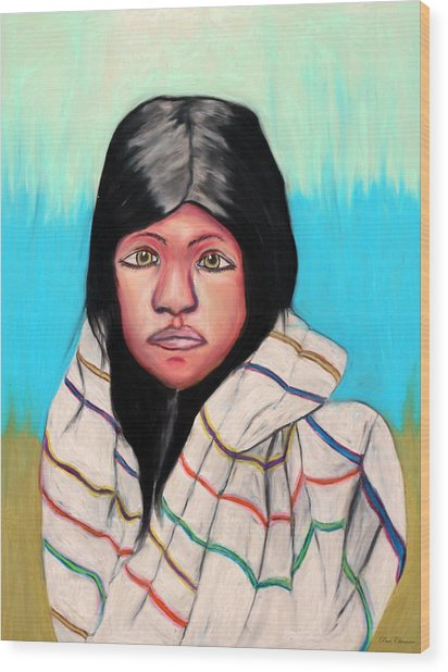 Native American Girl 1 Wood Print