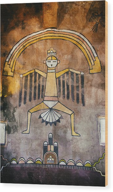 Native American Great Spirit Pictograph Wood Print