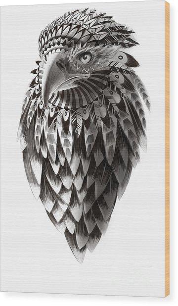 Native American Shaman Eagle Wood Print