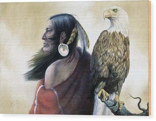 Native Americans Wood Print