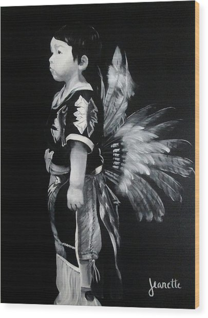 Native Boy Wood Print