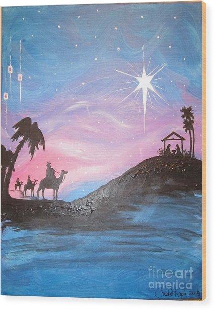 Nativity Wood Print
