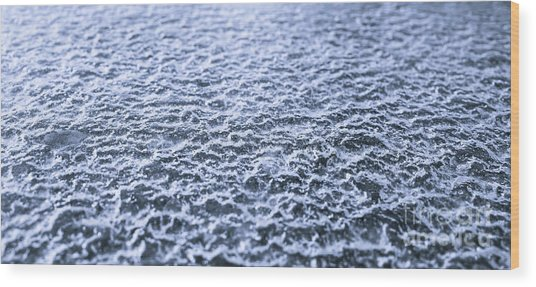 Natural Abstracts - Icy Surface Wood Print