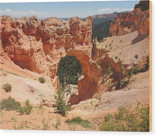 Natural Bridge At Bryce Canyon Wood Print