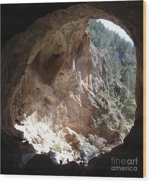 Natural Bridge View Wood Print