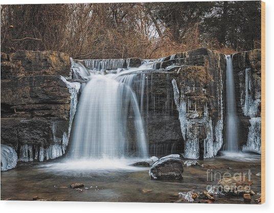 Natural Dam Winter Wood Print