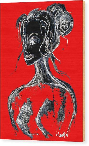 Natural Red Wood Print
