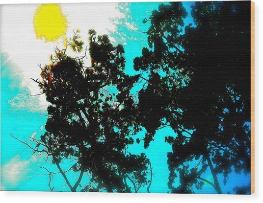Nature Too Wood Print