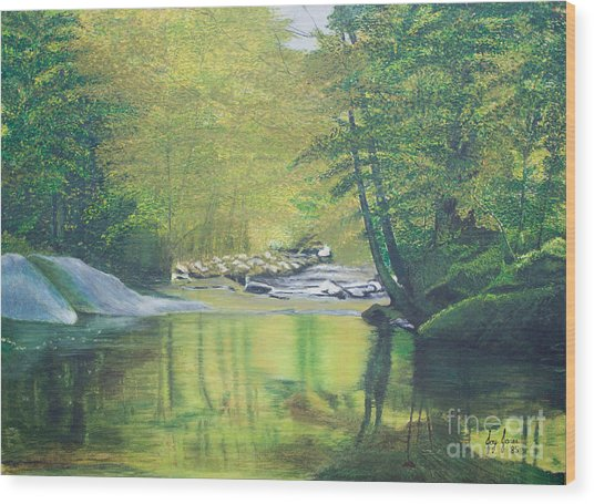 Nature's Charm Wood Print by Joy Ballack