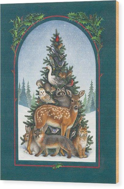 Nature's Christmas Tree Wood Print
