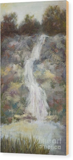 Nature's Own- Unframed With Gold Leaf By Vic Mastis Wood Print