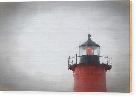 Nauset Lantern And Catwalk Wood Print