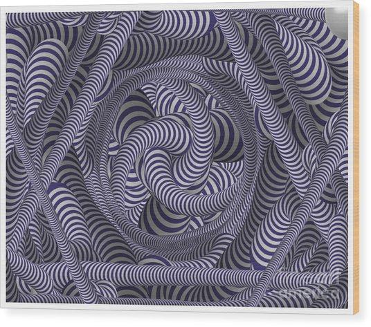 Nautical Coloured Design Wood Print