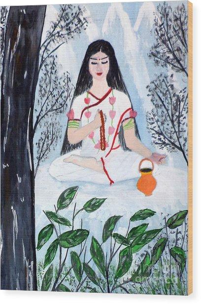 Nava Durga Brahmacharini Wood Print