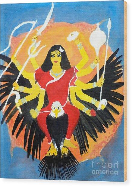 Nava Durga Chandraghanta Wood Print