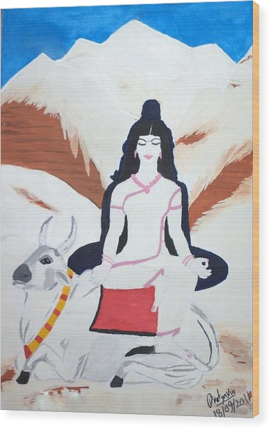 Nava Durga Mahagauri Wood Print