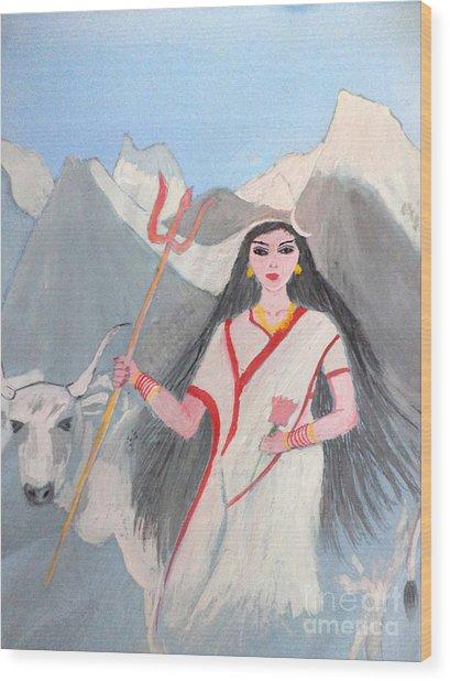 Nava Durga Shailputri Wood Print