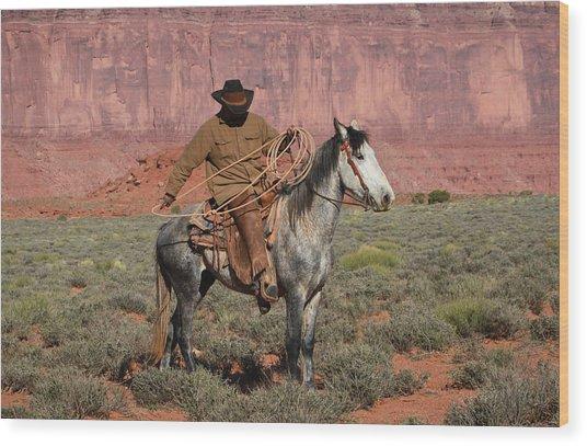Navajo Cowboy Wood Print