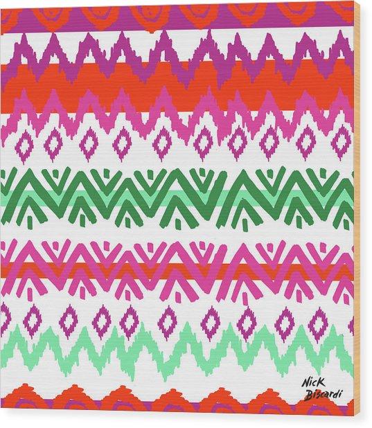 Navajo Mission Round Wood Print